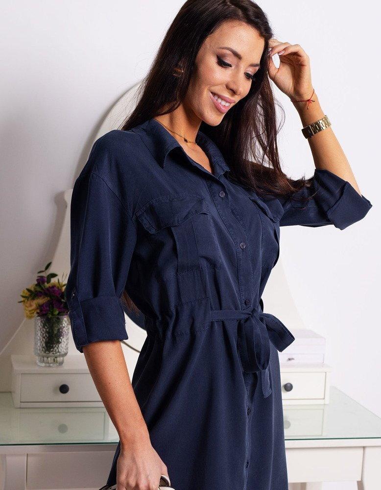 8dc8e5e404 Granátové košeľové šaty HANNAH (ey0769). PrevNext