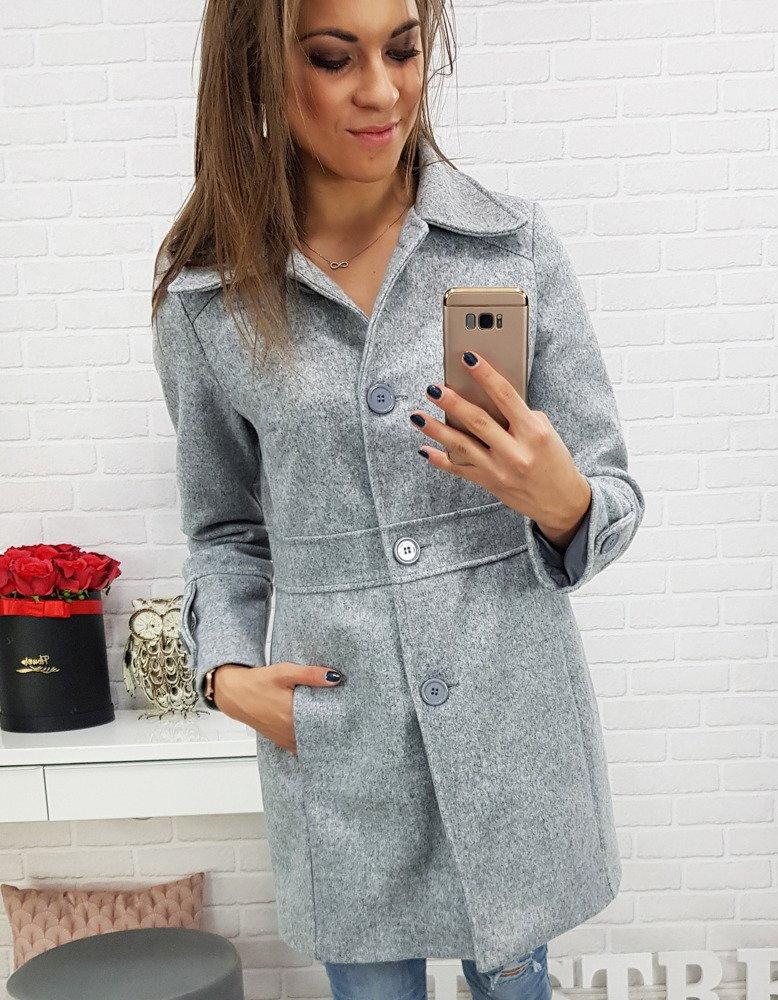 Šedý dámsky kabát (ny0137) 2d19a27a938