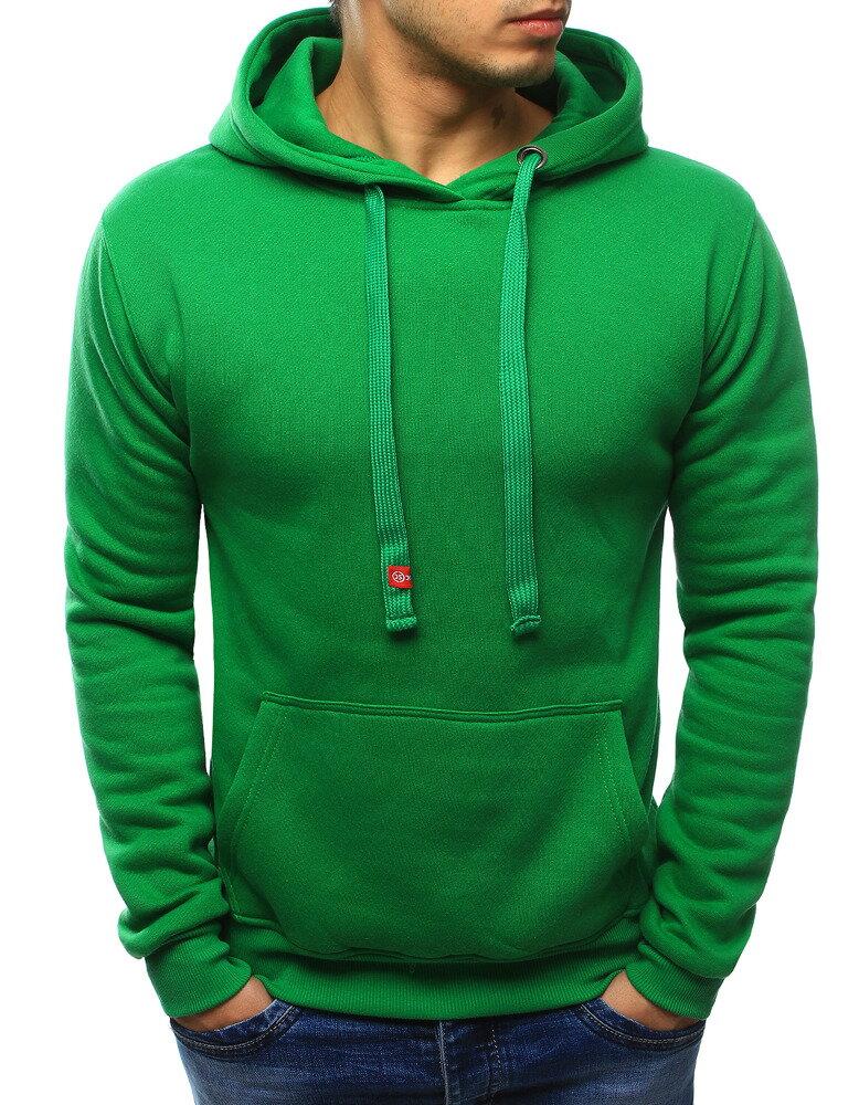Pánska zelená mikina s kapucňou (bx2030) 34b6c9771c4