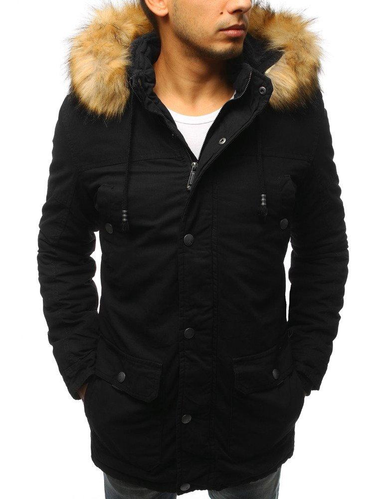 Pánska zimná bunda typu parka s kapucňou (tx2443) 122bf761df1
