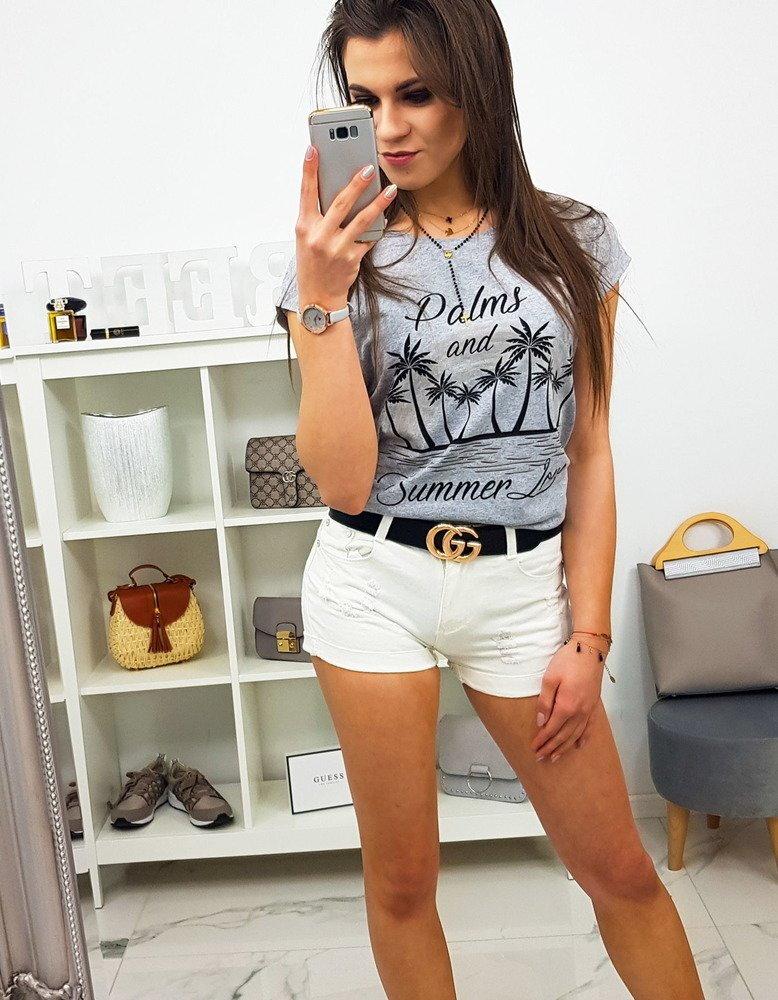 c3b46190a4f2 Dámske tričko PALMS svetlo-sivej farby (ry0805)