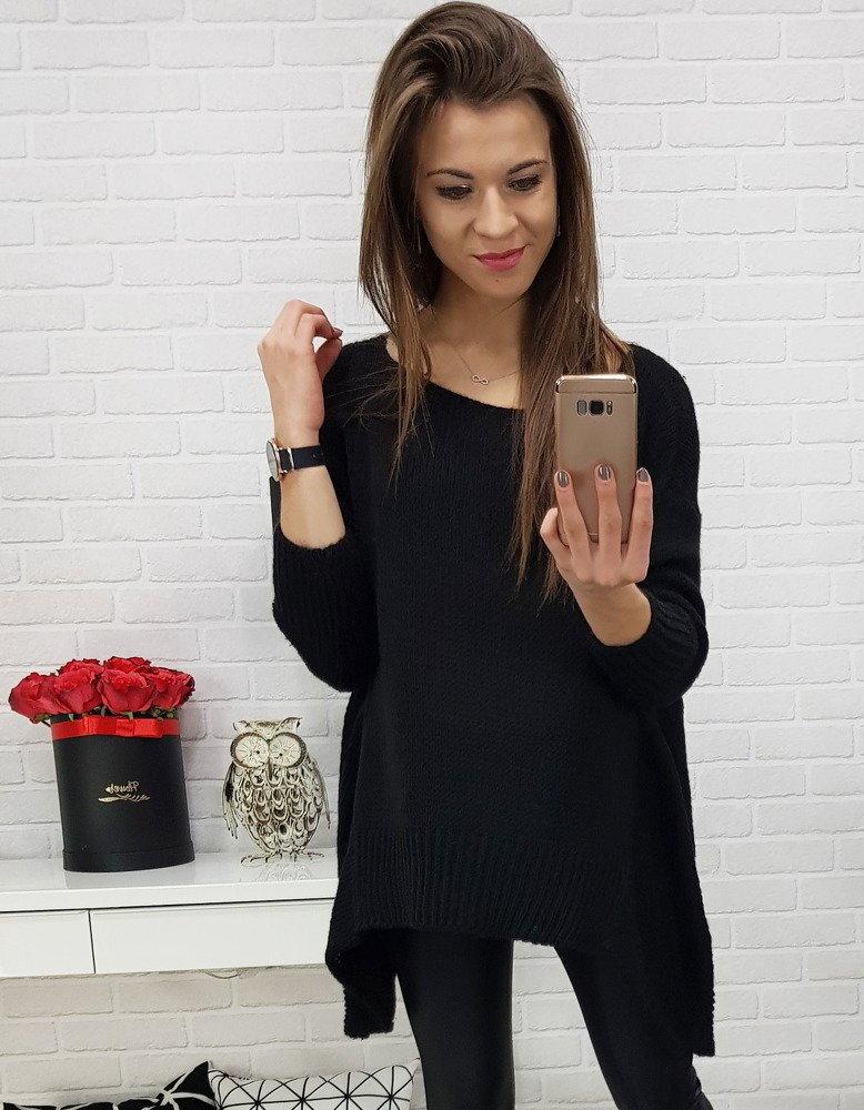 c9af7c6593c5 Elegantný dámsky čierny sveter (my0546)