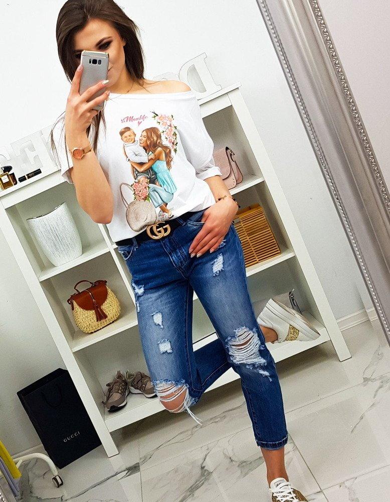 0a1050804 Moderné dámske tričko s potlačou (ry0770)