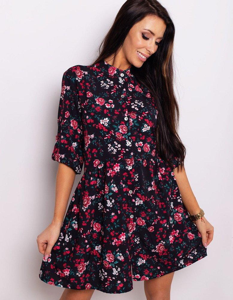 24c644cf72 Čierne kvietkované šaty SPRING MEADOW (ey0760)