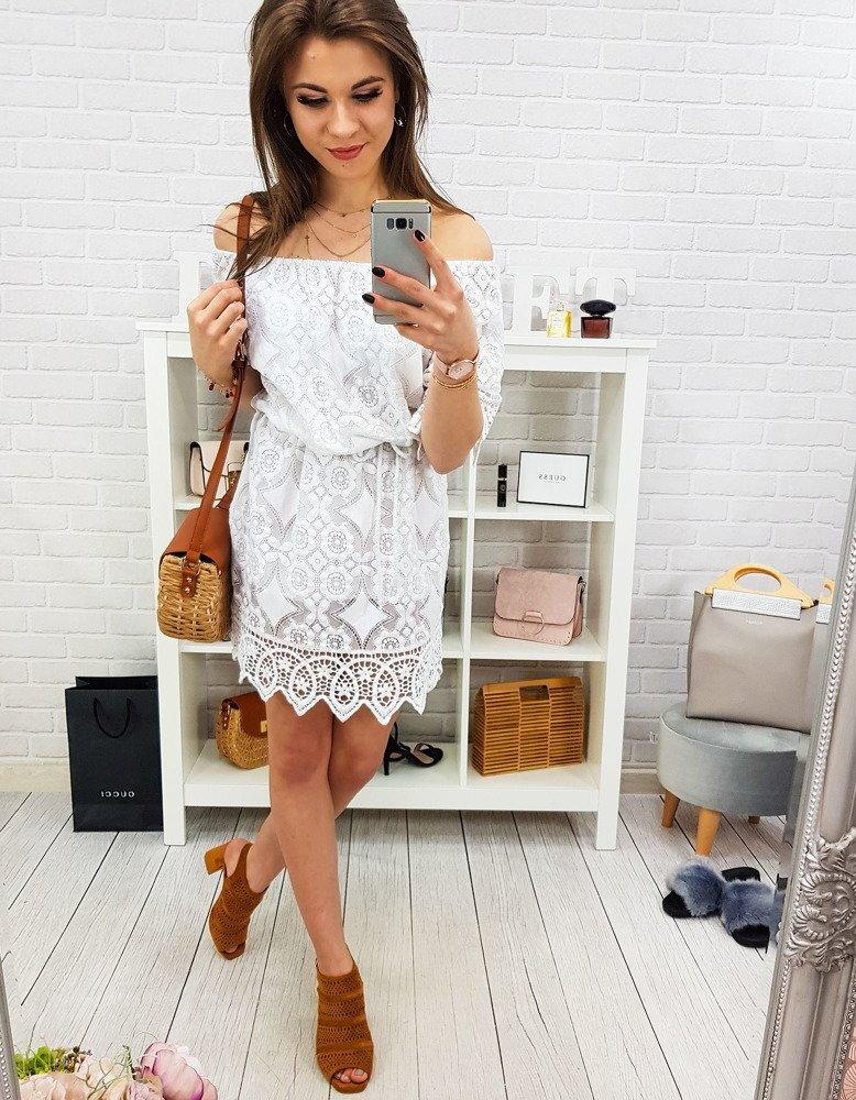bb75bb7179f0 Biele krajkové šaty (ey0837)