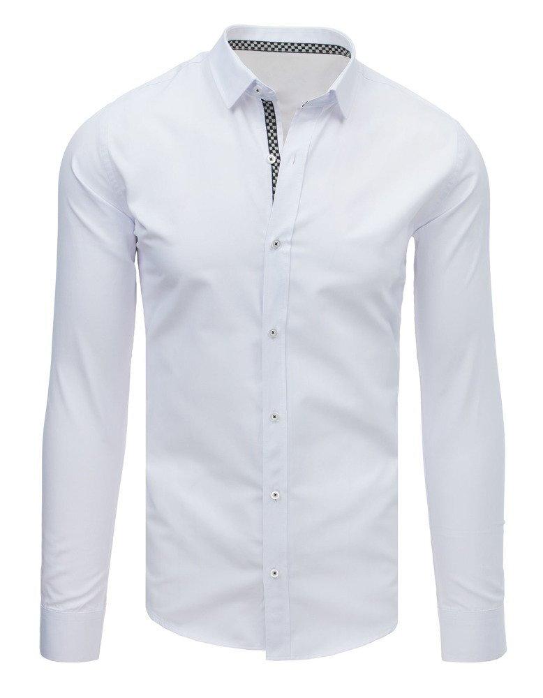 33fbc6fcd2fa Elegantná biela pánska košeľa EGO MAN (dx1642) skl.