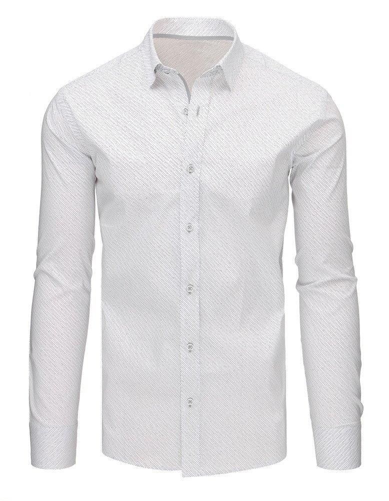 0b7174a3ba2a Biela košeľa s bodkovaným vzorom (dx1498). PrevNext