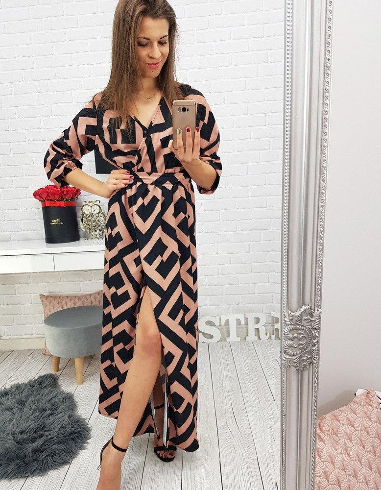 5d57085d0ea2 Vzorované dámske šaty (ey0539)