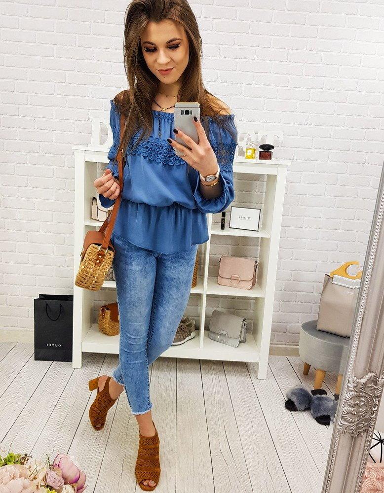 3b2074c45dcc Moderná džínsová dámska blúzka PENNY (ry0679)