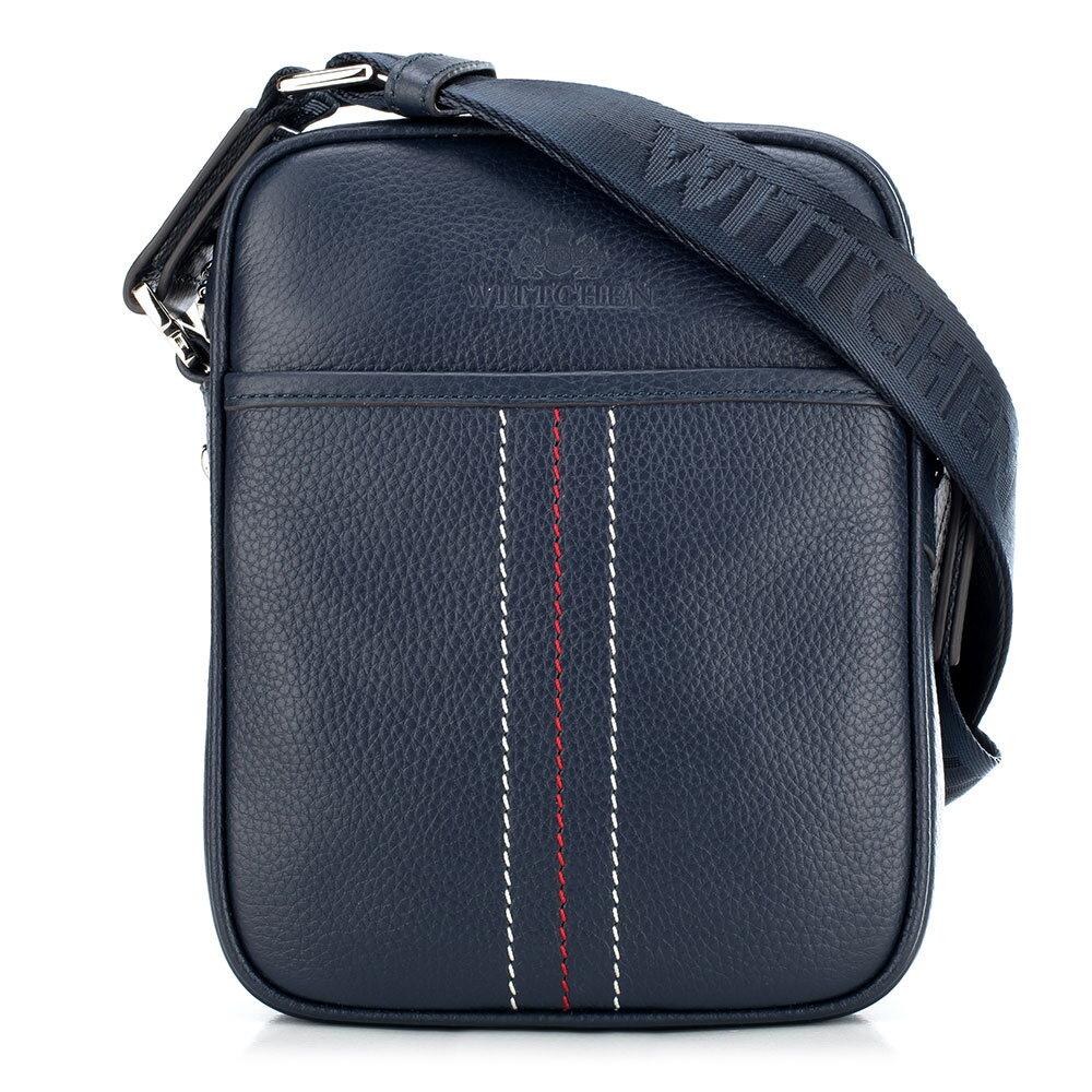 5a08aa14b7 Modrá pánska taška na rameno.